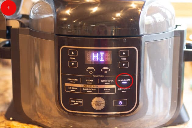 instant pot set to hi