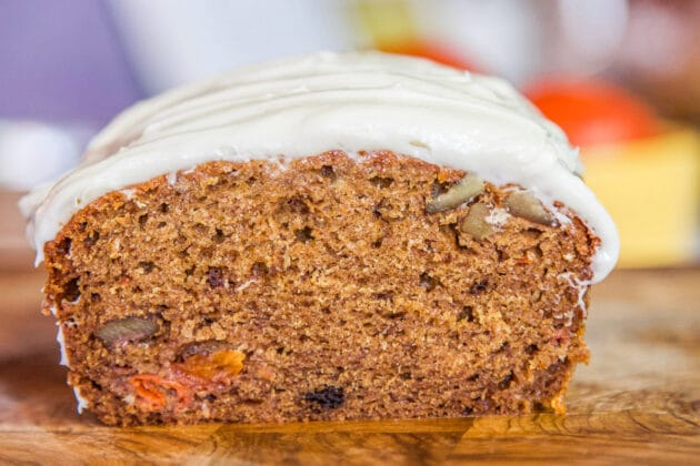 persimmon bread, sliced