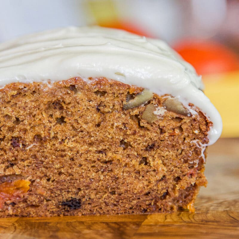 persimmon bread with cream cheese