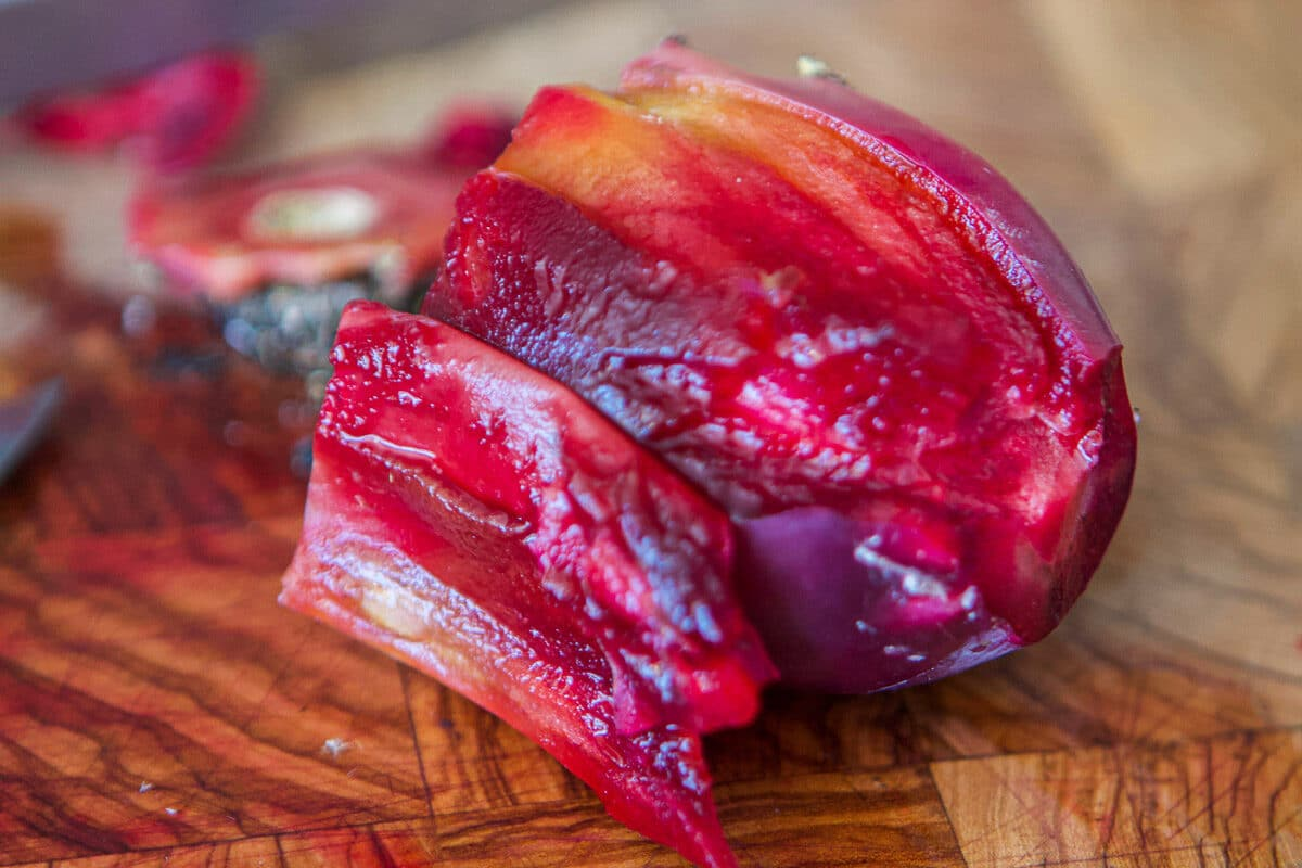 peeled prickly pear