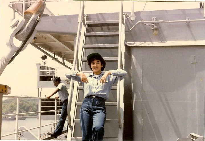 a female sailor on a U.S. Ship