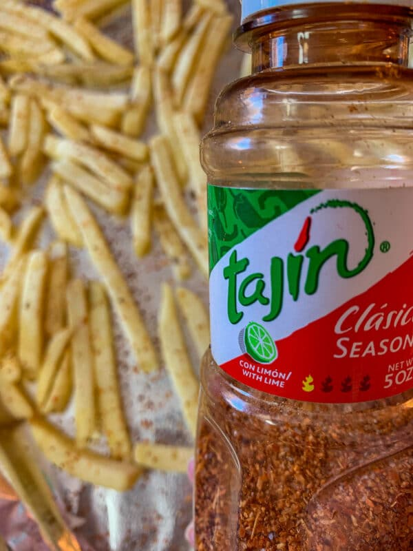 fries with Tajin seasoning