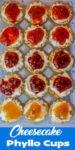 cheesecake phyllo pins