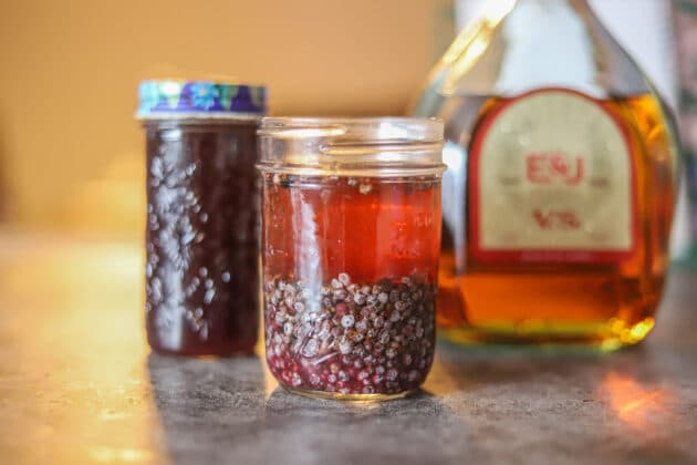 Elderberry tincture in jars