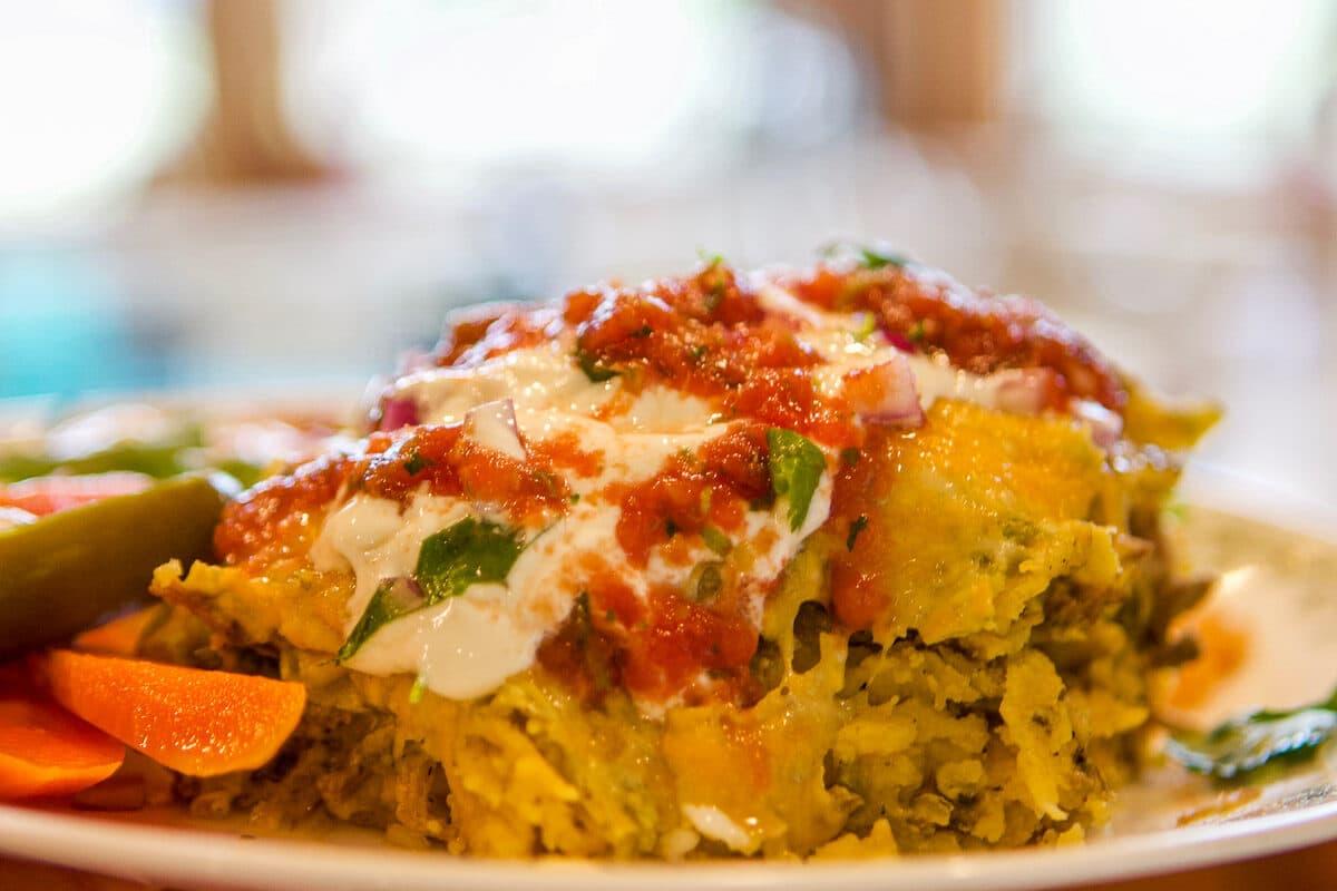 enchilada casserole on a plate
