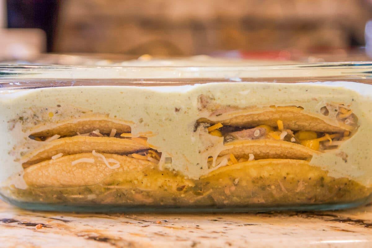 enchiladas in a pan