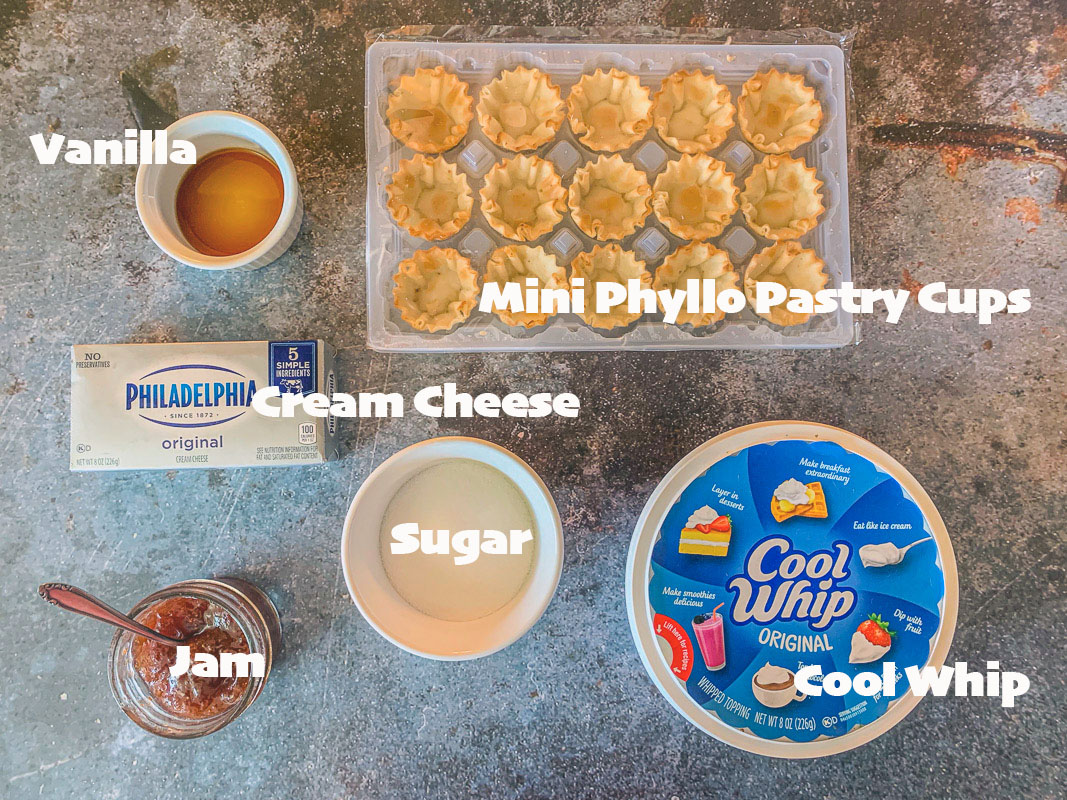 cheesecake phyllo cups ingredients