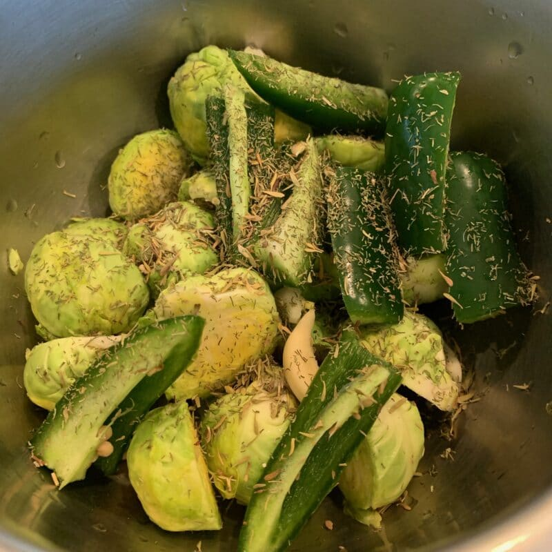 Brussel Sprouts with spices over them