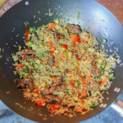fried rice in a pan