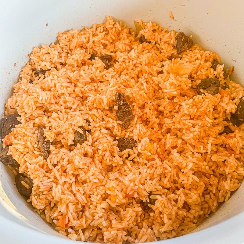 Instant Pot Jasmine rice in an instant pot