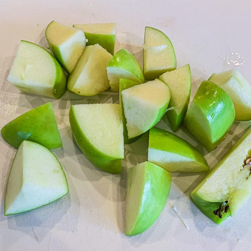 diced Granny Smith apple