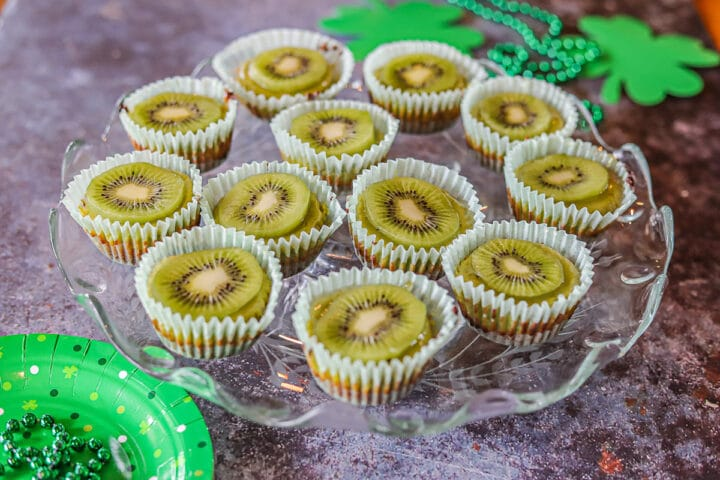 kiwi lime matcha cheesecake cups