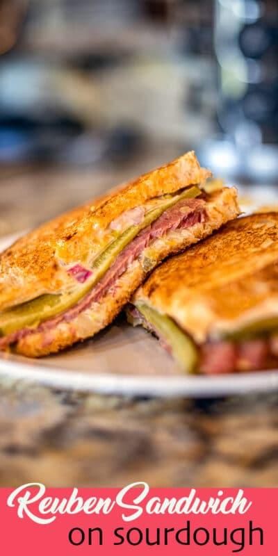 Reuben Sandwich on a plate