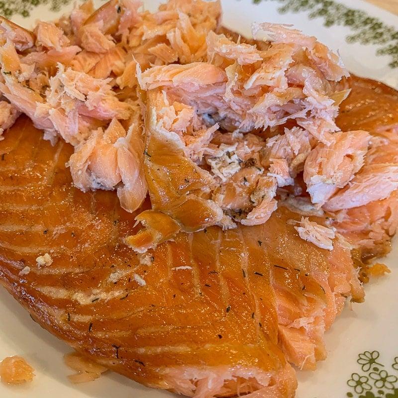 flaked salmon