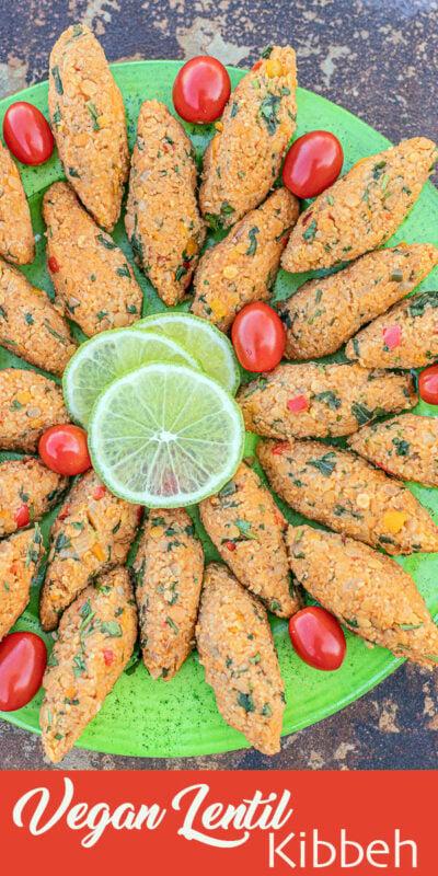 vegan lentil kibbeh