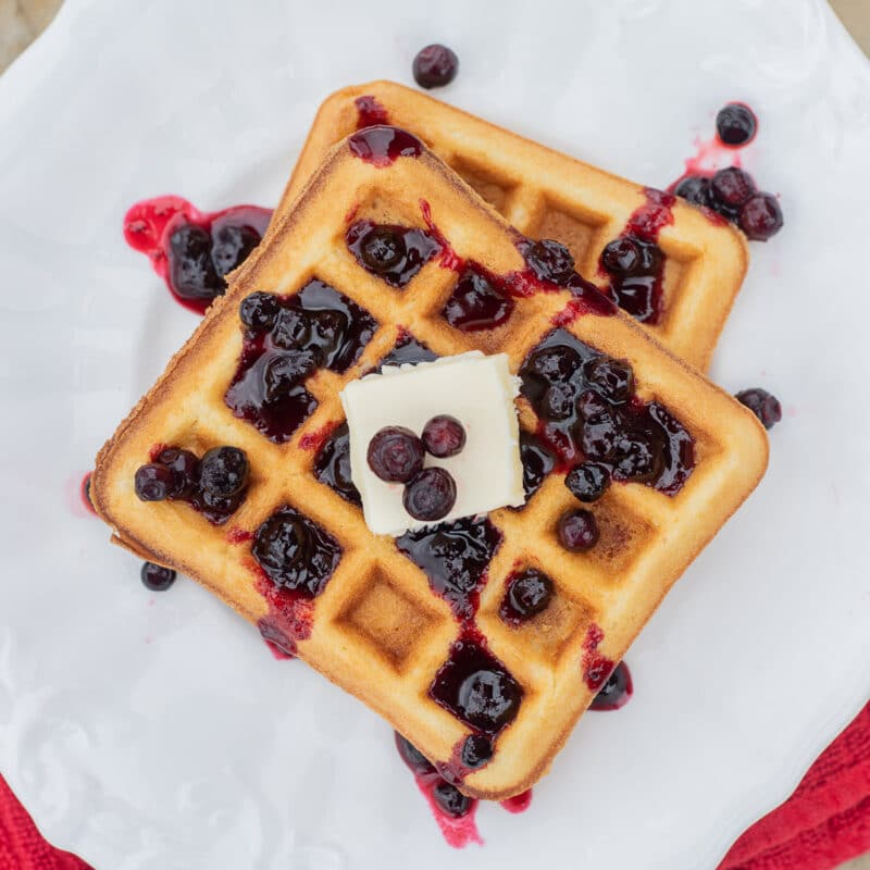 huckleberry syrup over waffles
