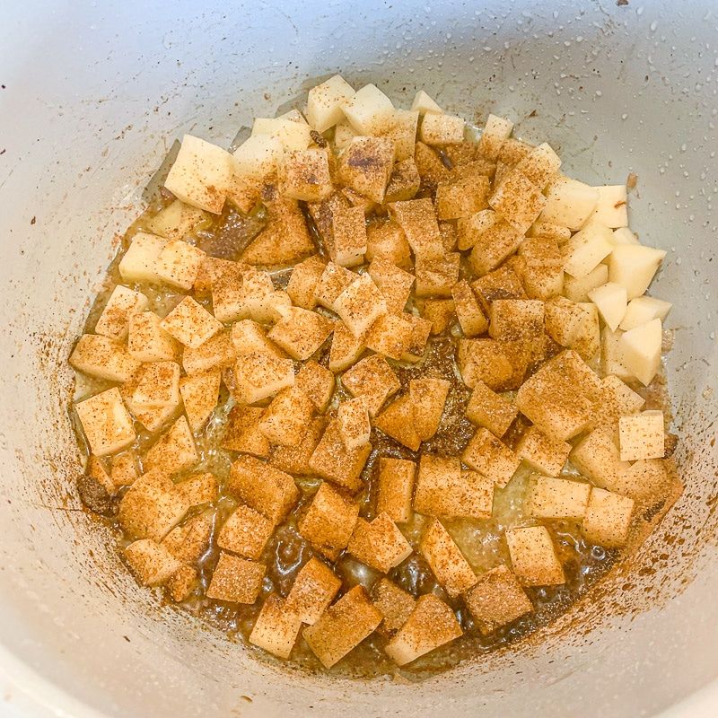 seasoned cubed potatoes in an instant pot bowl