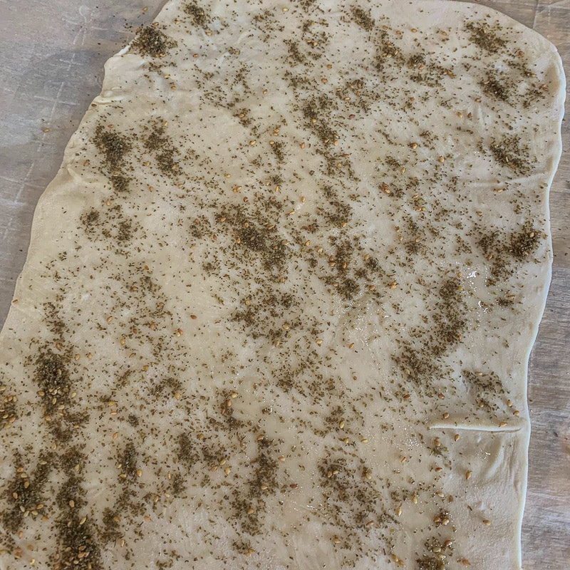 lavash covered with Zaatar