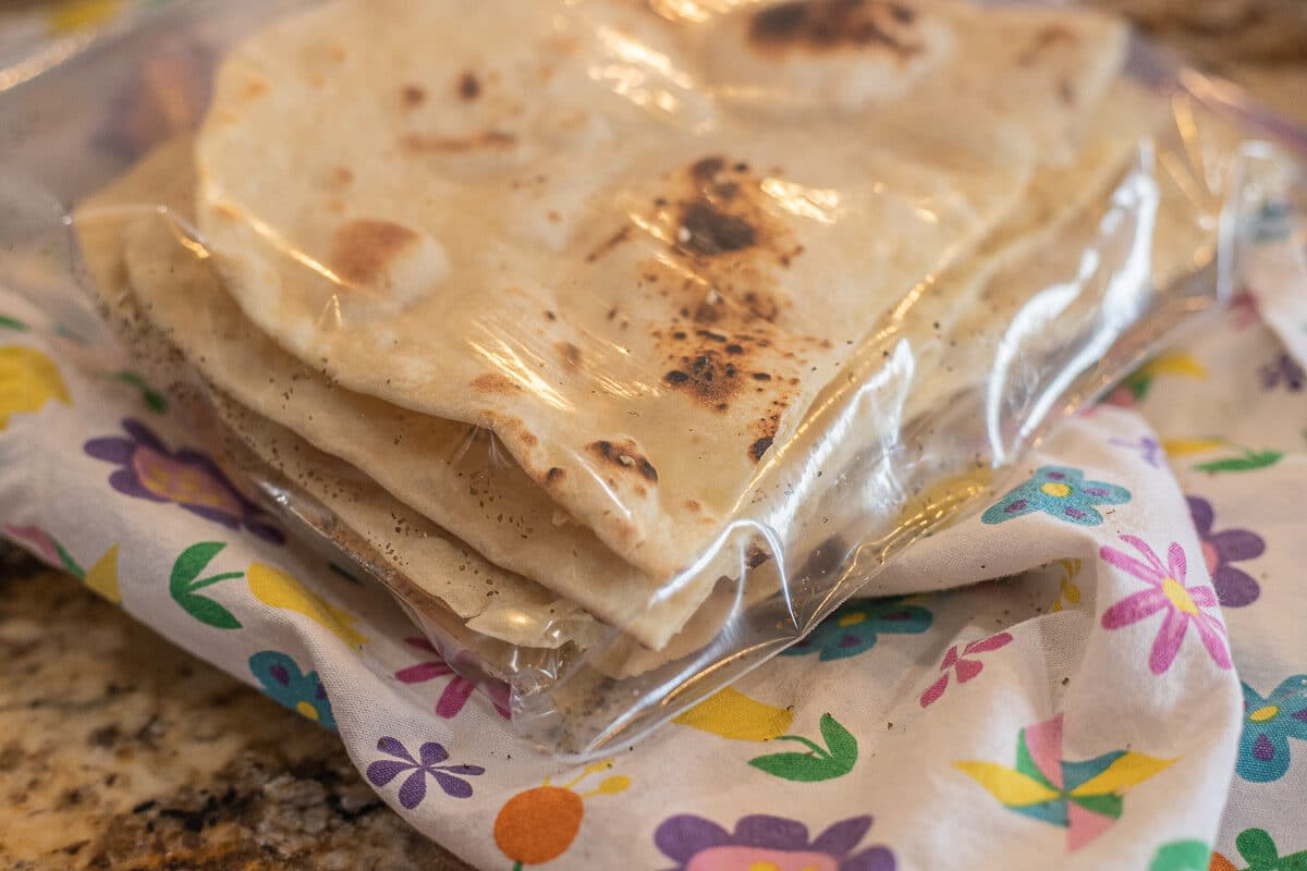 lavash bread recipe (lavash in plastic bag)