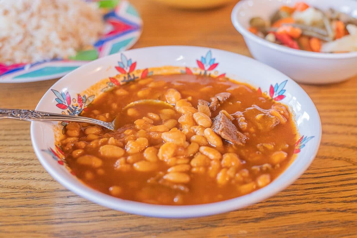masheh/bean stew in a bowl