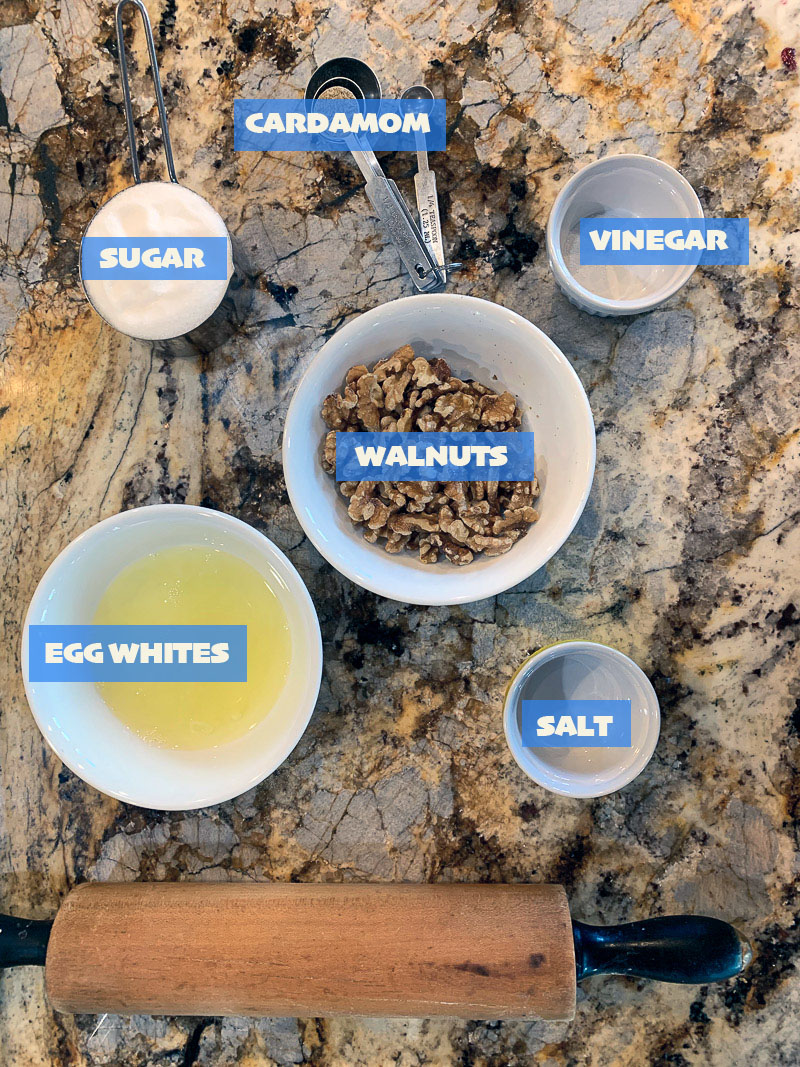 resurrection cookie ingredients, labeled
