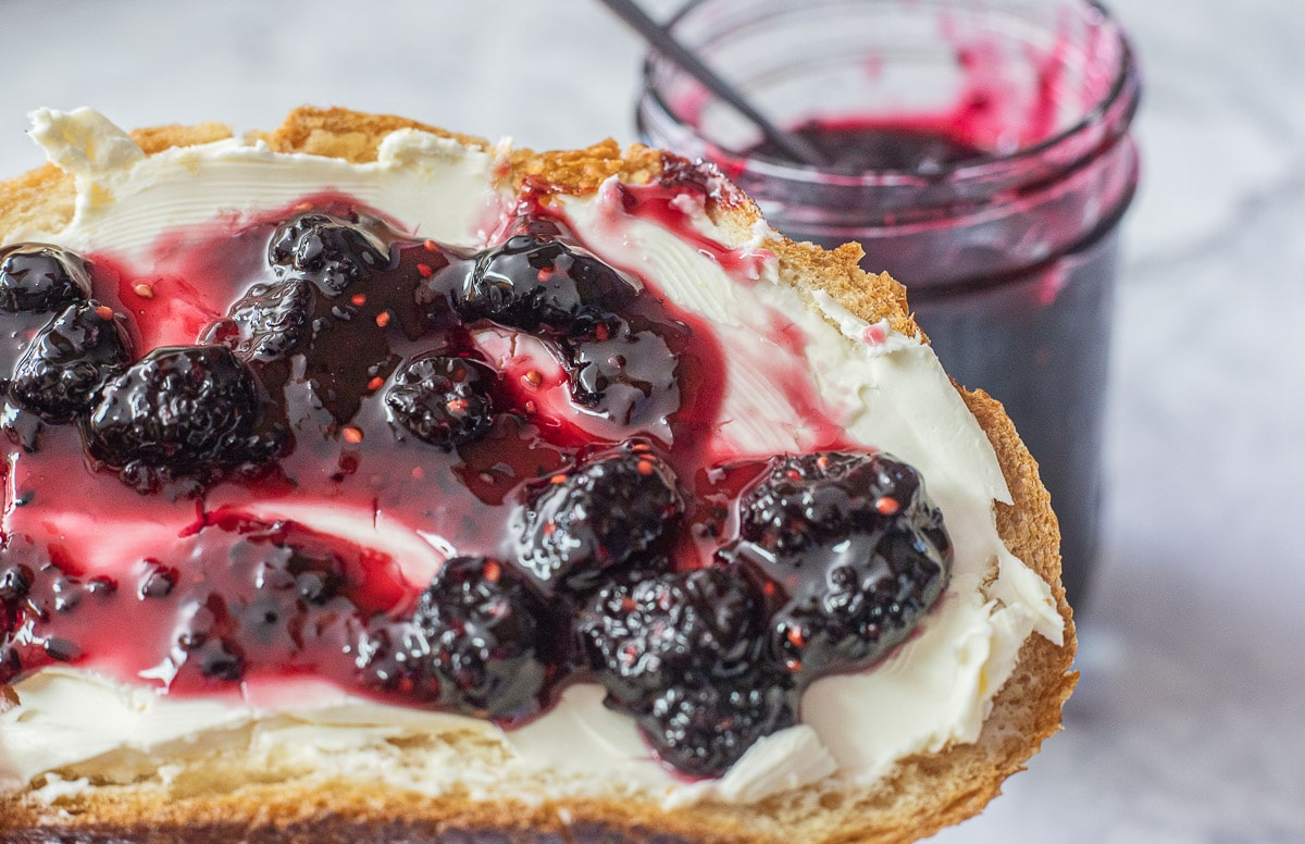 mulberry recipes: preserves on toast