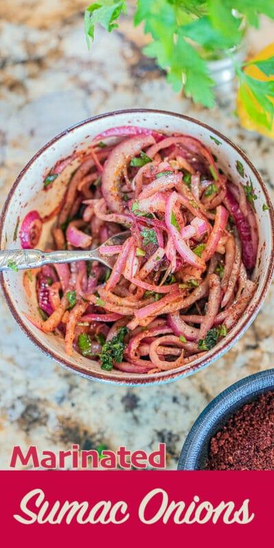 marinated sumac onions pin