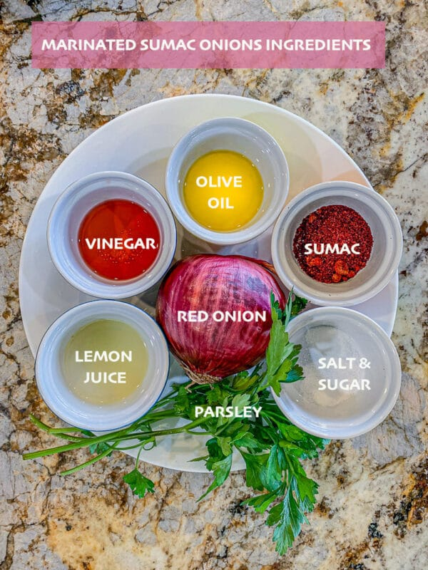 marinated sumac onions ingredients, labeled
