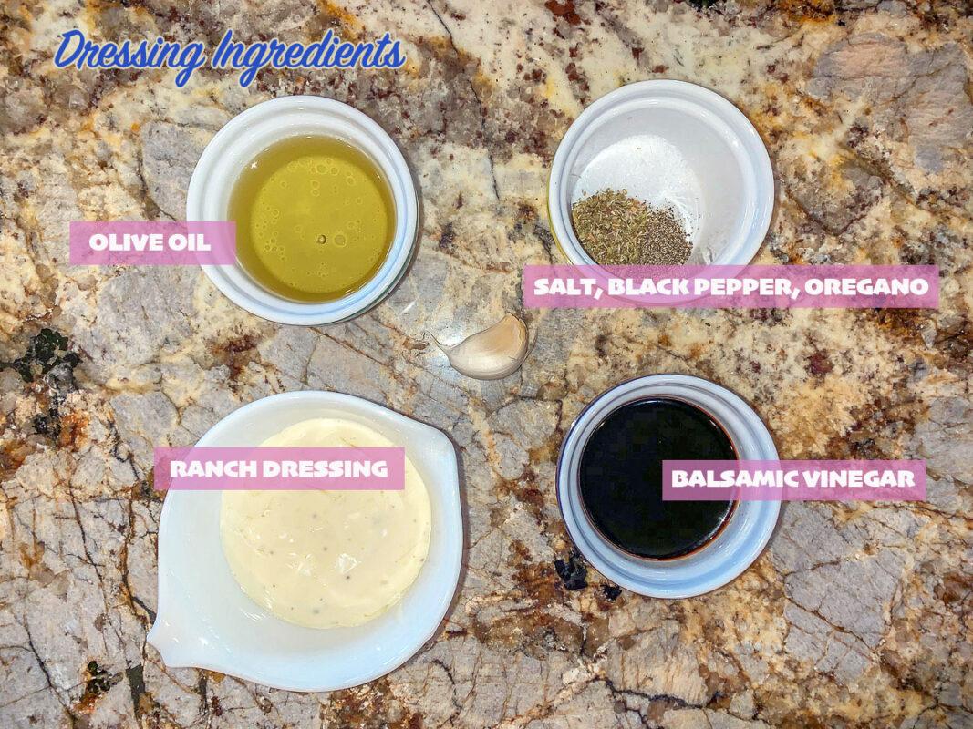 labeled Salad dressing ingredients
