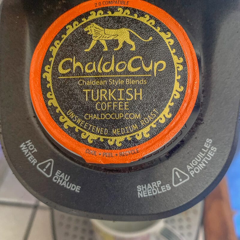 chaldocup k cup in a coffee maker