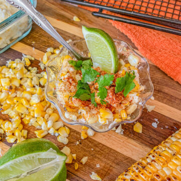 elote/ corn in a cup