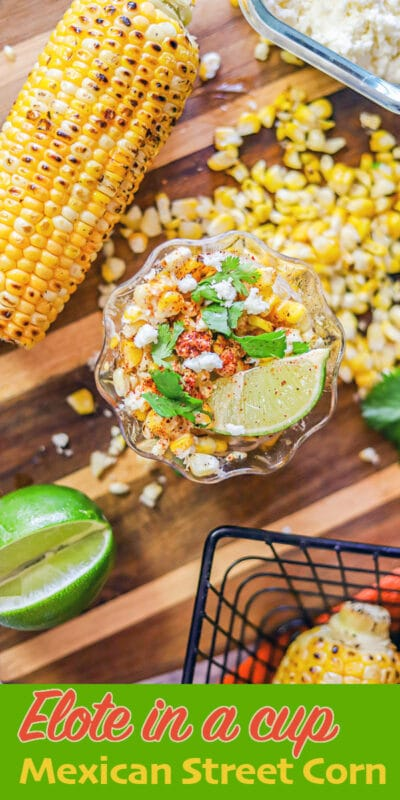 elote in a cup pin