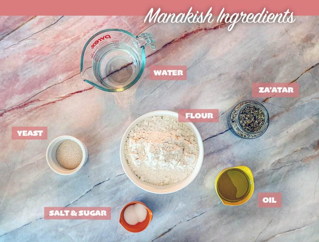 labeled manakish ingredients