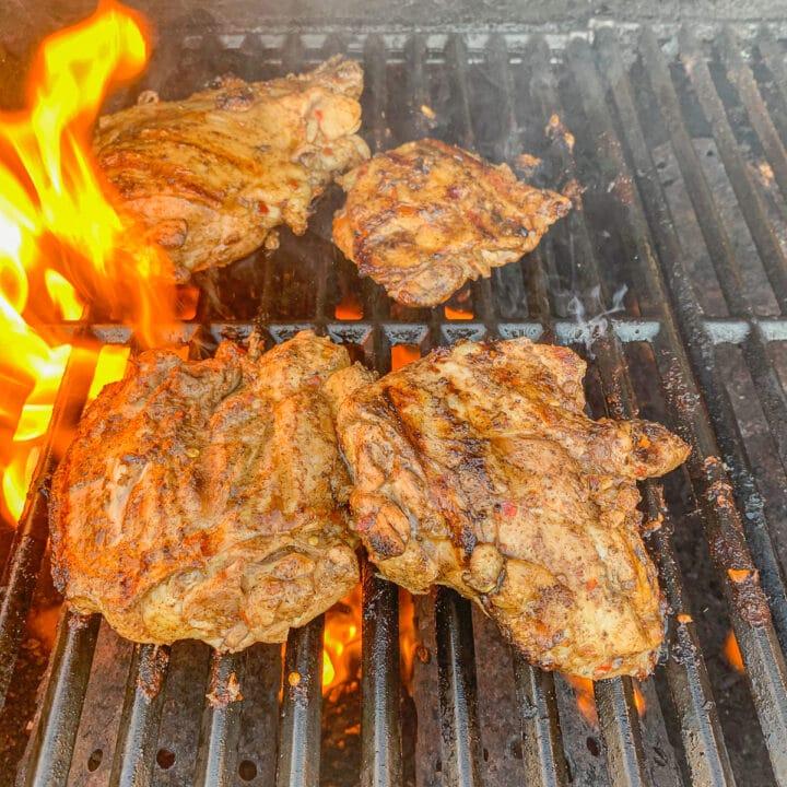 shawarma chicken being grilled