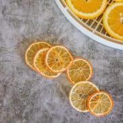 dehydrated orange slices