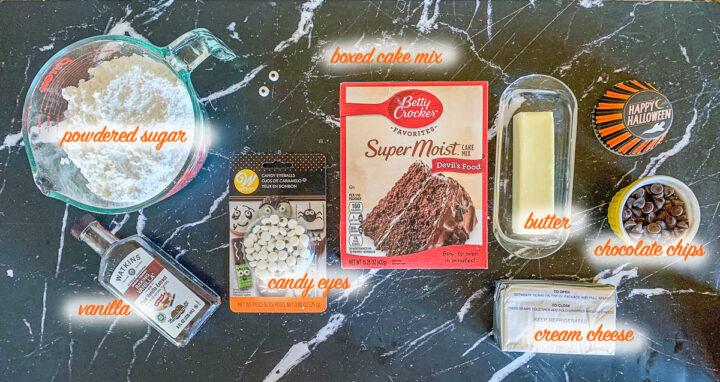 halloween cupcake ingredients