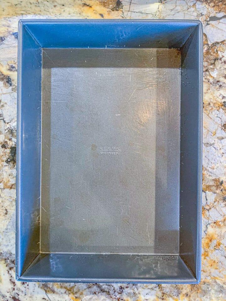 buttered rectangular pan