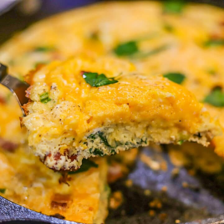 Keto Frittata being dished out