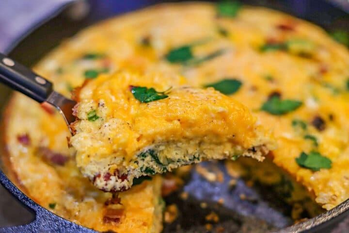 Keto Frittata being served