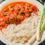 Bamia ladies fingers okra stew and rice