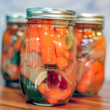 pickled carrots in jars