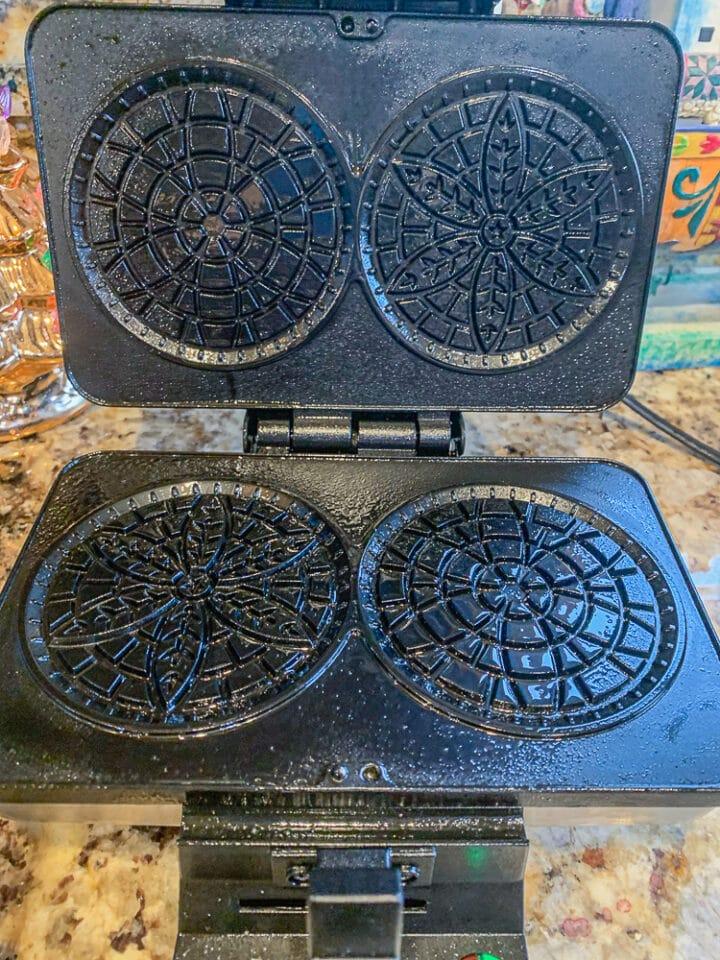 oiled pizzelle maker