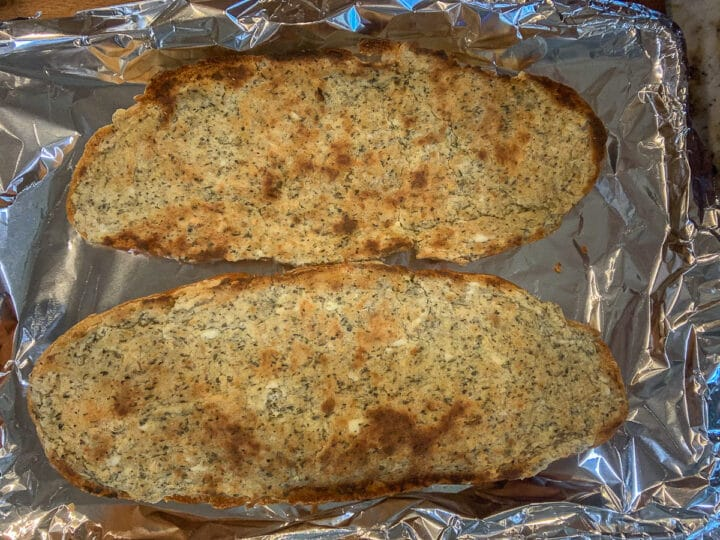 broiled cream cheese garlic bread