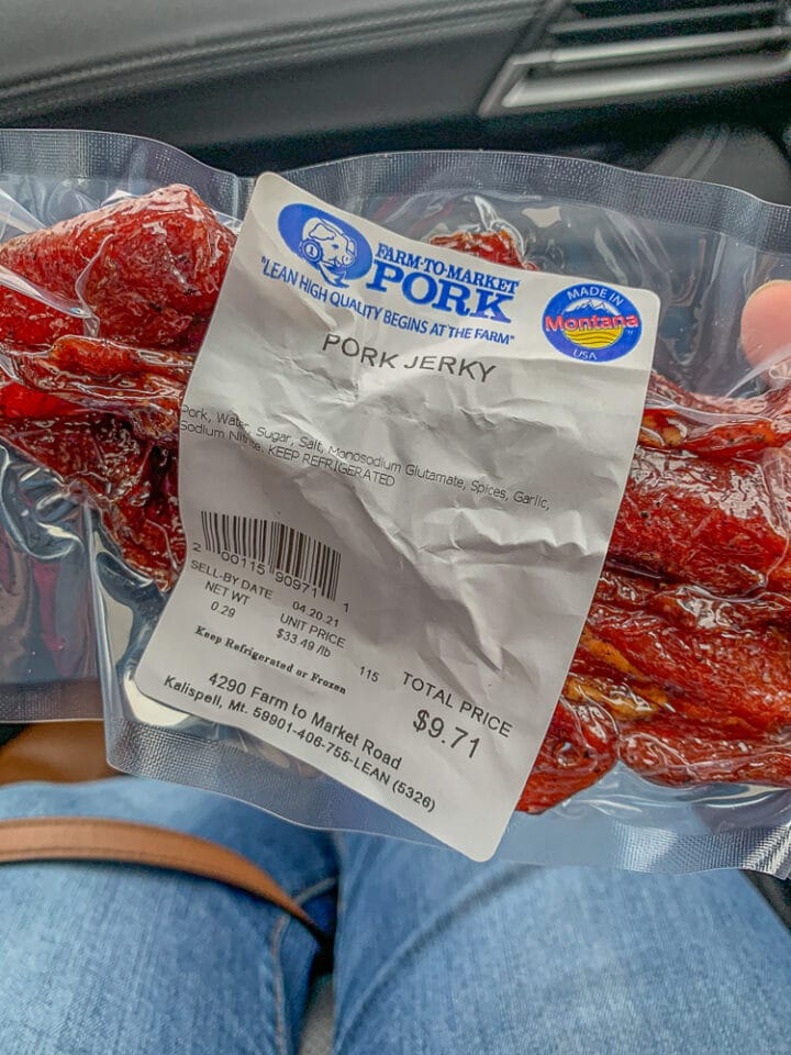 packaged pork jerky