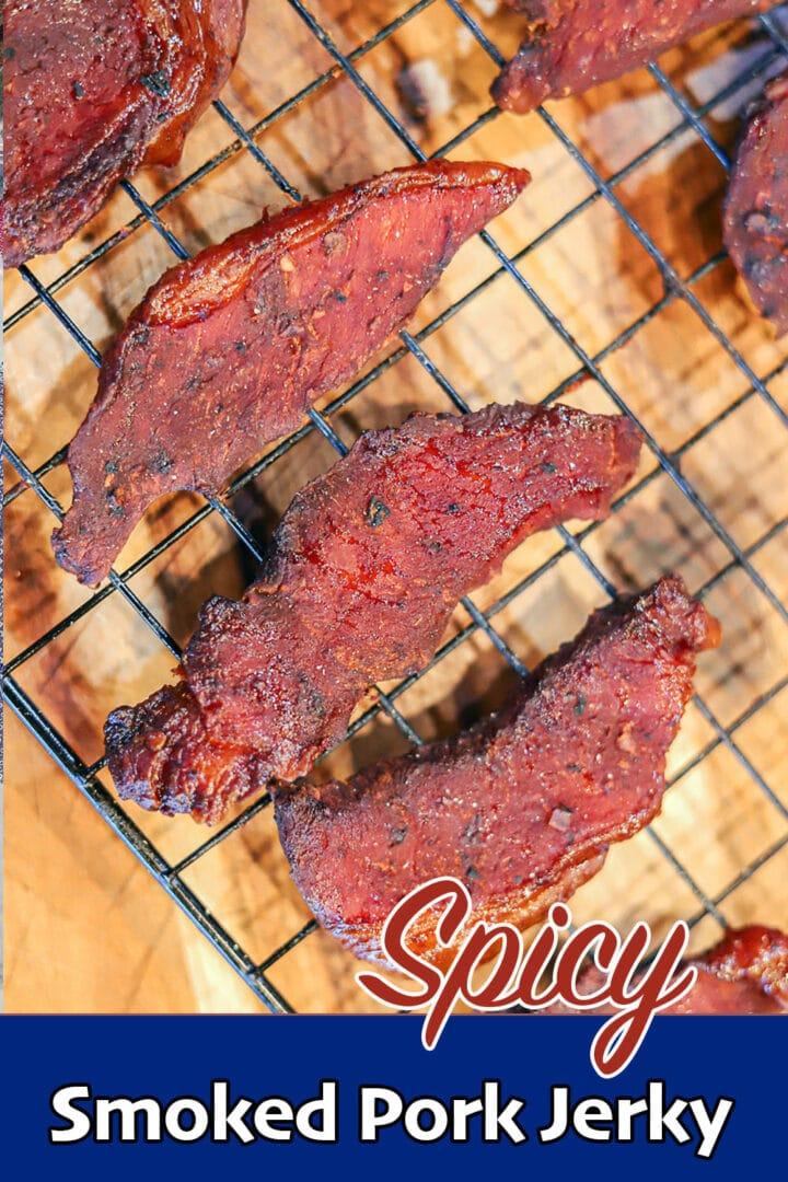 spicy pork jerky pin