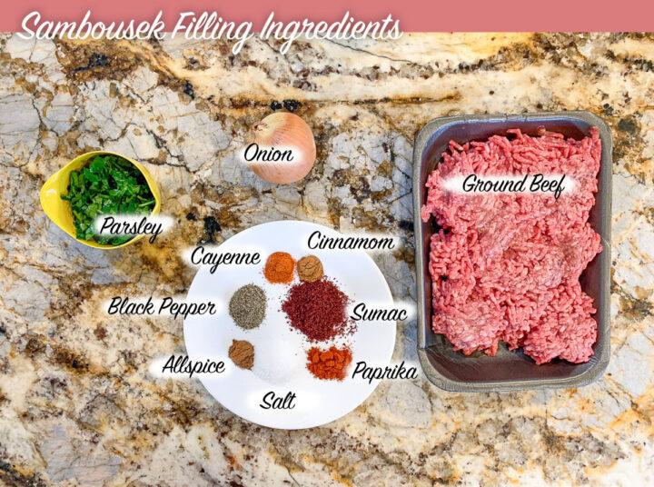 sambousek filling ingredients