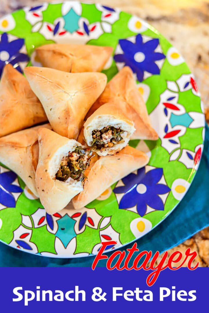 spinach and cheese fatayer pin