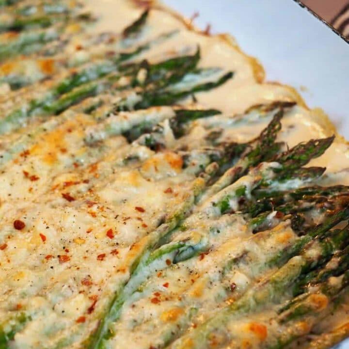 cheesy asparagus bake