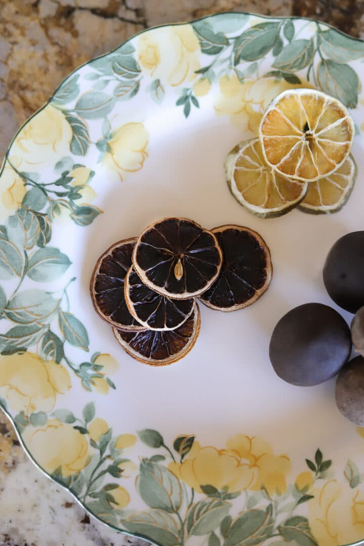 dehydrated lemon and lime slices and black limes