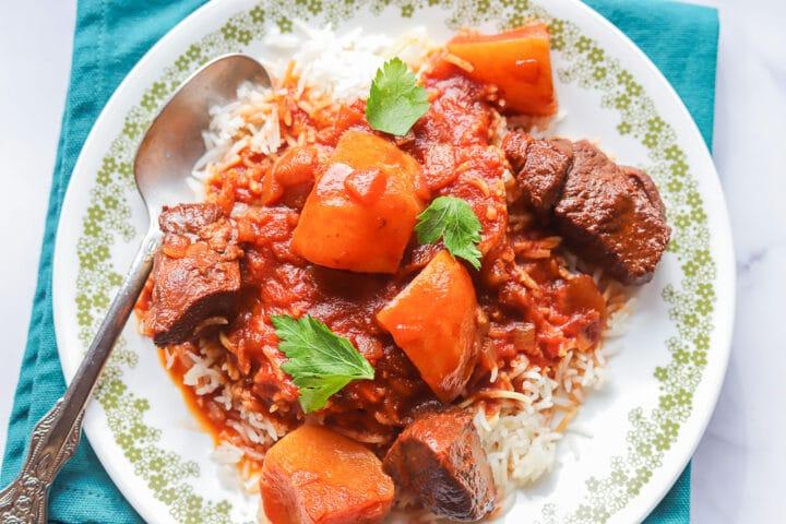shalgam over rice